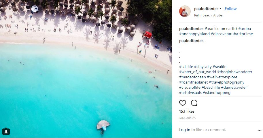 Instagram-User-Photo-at-paulodfontes-Natural-Beauty-VisitAruba-Blog-Aruba-You-Should-be-Here-location-tag-beach-hotel-area-aerial-view