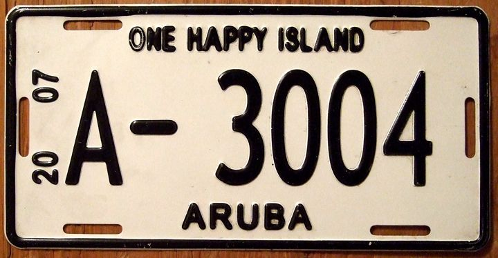 aruba-one-happy-island-license-plate-visitaruba