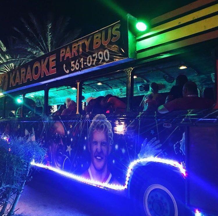 karaoke-party-bus-aruba-LED-lights-palm-trees-bar-hopping-visitaruba