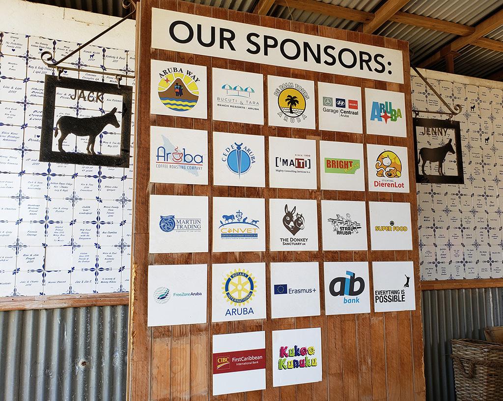 Aruba Donkey Sanctuary sponsors