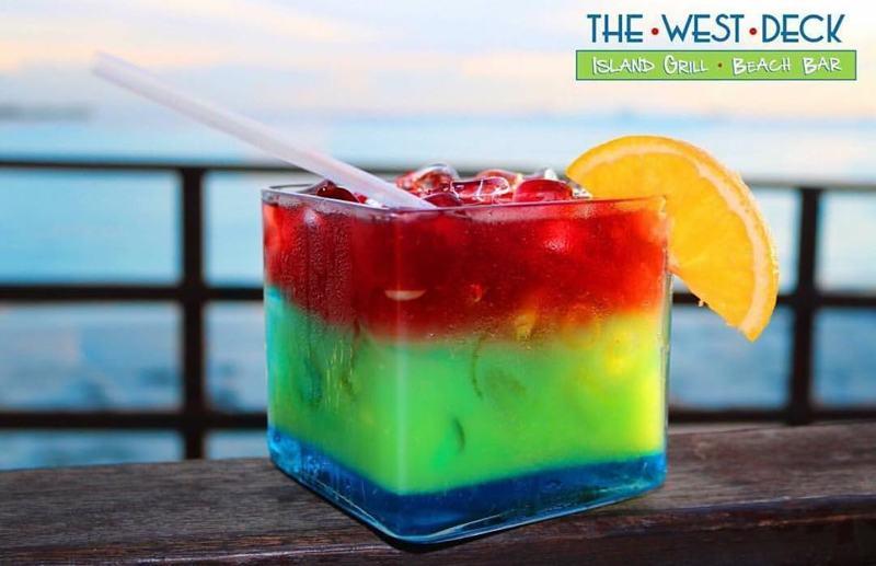 Rainbox Sangria - drinks aruba -Photo by The West Deck