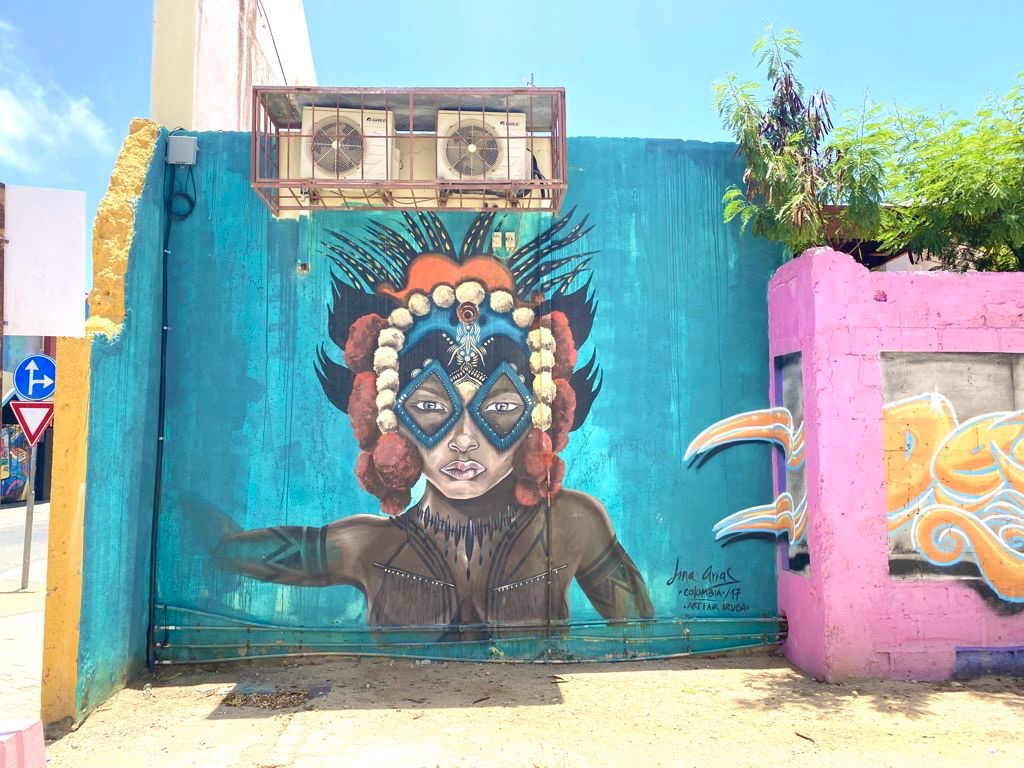 A Glimpse of the Vibrant Street Art Found in San Nicolas, Aruba