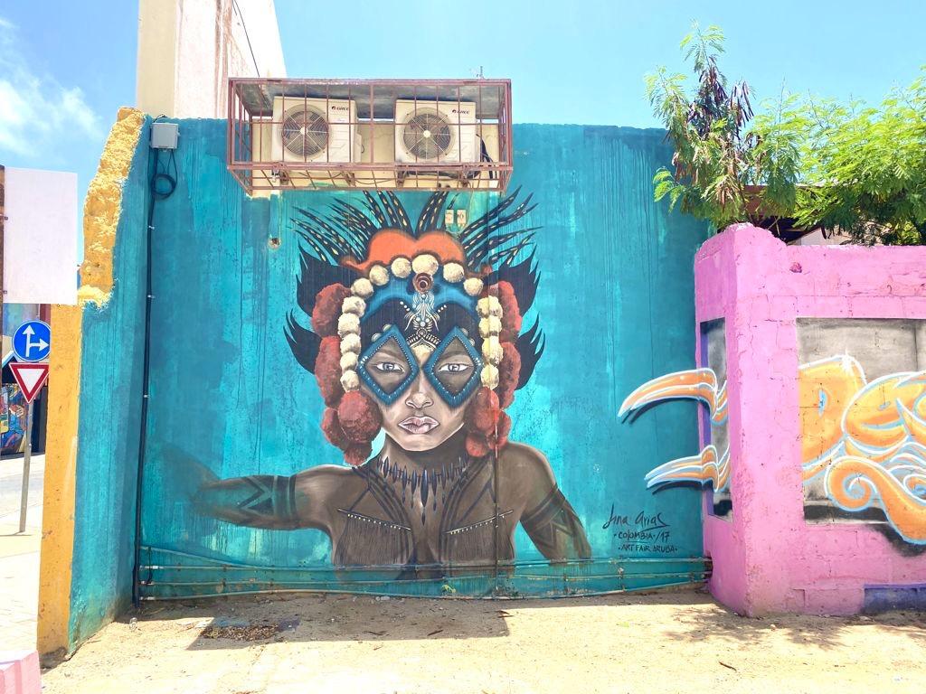 A Glimpse of the Vibrant Street Art Found in San Nicolas, Aruba