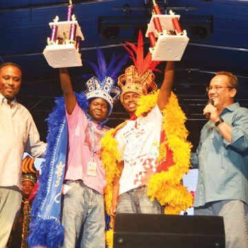 Winners of the 2013 Aruba's Caiso & Soca Monarch competition