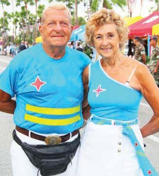 Loyal visitors enjoying the official Aruba Day celebrations for the 12th year