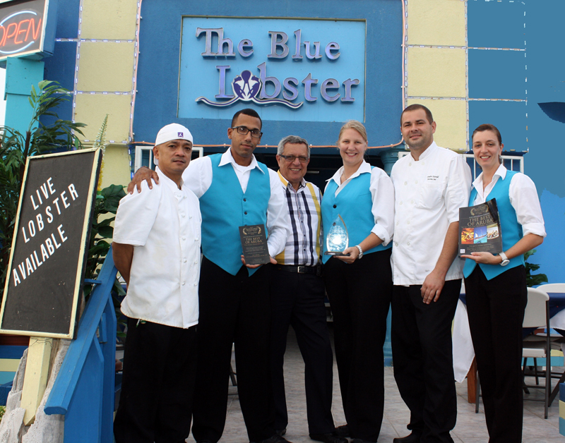 The Blue Lobster Awarded for Best Lobster House in Aruba