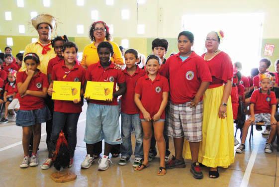 Children taught about Aruba's Dera Gai Festival
