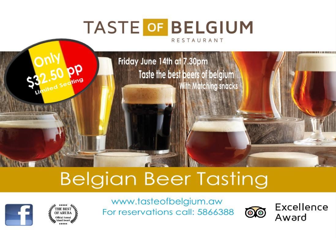 Premiering tonight: Taste of Belgium Restaurant's first Belgium Beer tasting event