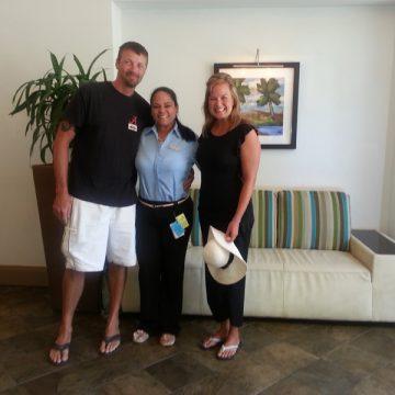 Mr. & Mrs. Kaasch returned to Aruba to celebrate their paper wedding