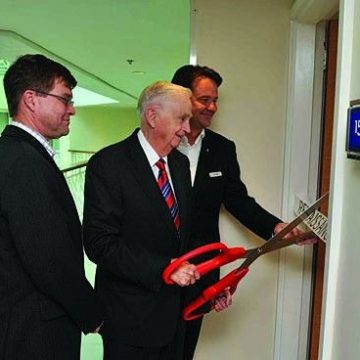 Newly renovated Renaissance Aruba guestrooms presented during an official ribbon cutting ceremony
