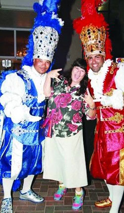 Aruba's Prime Minister turned over command of the island to the Carnival Prins and Panchos