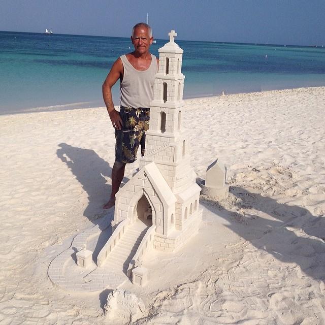 Spectacular sand castle on display at the Aruba Marriott Ocean Club beach
