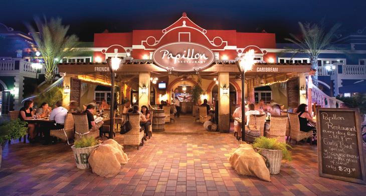 Talented and versatile singer, Tony Marshall, performing at Aruba Papillon Restaurant