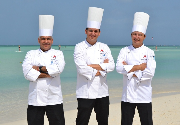 Three new members are joining Aruba Marriott's culinary team
