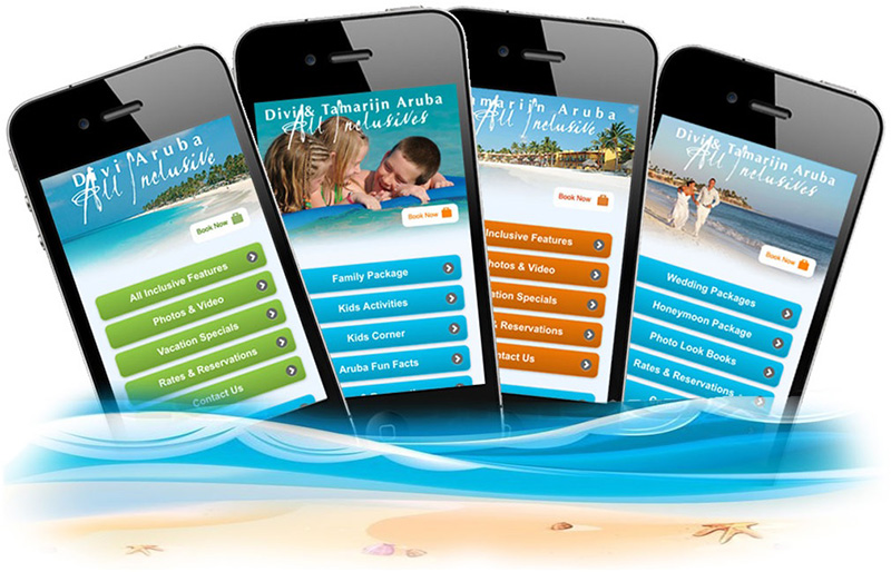 The Divi & Tamarijn Aruba All-inclusive Resorts enhance their online presence with the launch of a series of mobile sites