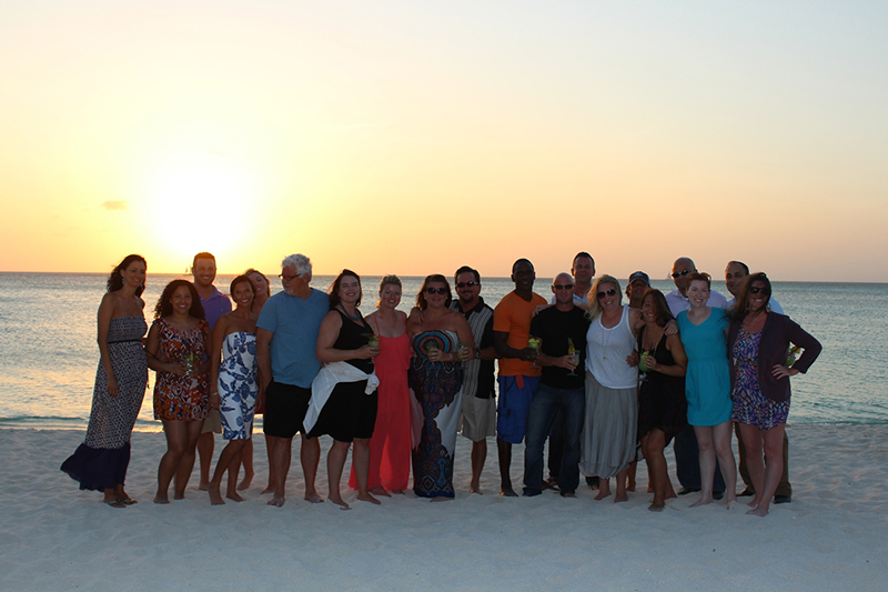 US Press Members receive the Radisson Aruba Resort's full