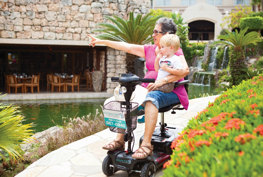 Aruba Essential Health Supplies offers Power Mobility Scooters for guests who are travelling to Aruba