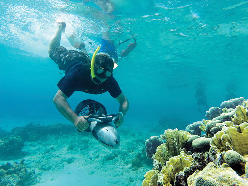 De Palm Island Aruba now features an exciting new way to snorkeling