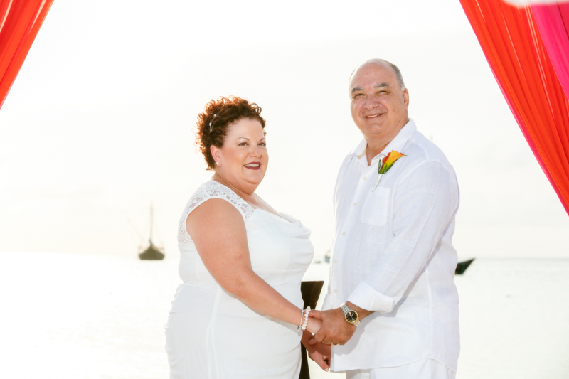 Mr. & Mrs. Conti renew their vows on their 15th wedding anniversary at the Aruba Marriott Ocean Club