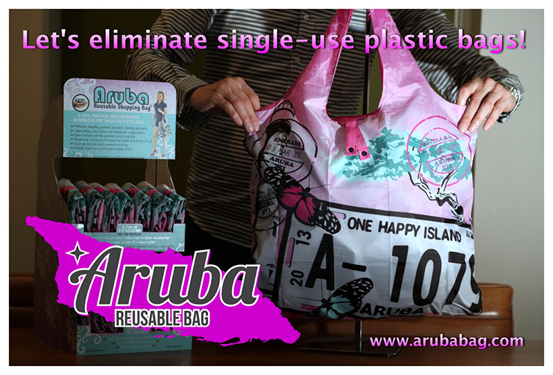 Aruba Reusable Bag available again at The Coconut Trading co., The Juggling Fish & The Lazy Lizard