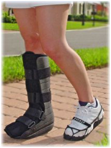 Orthopedic walking boot now available at Essential Health Supplies Aruba