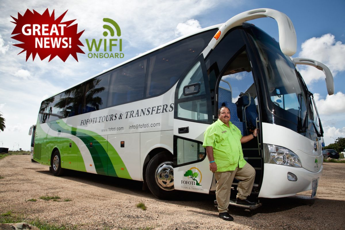 Fofoti Tours and Transfer Aruba Introduces WiFi to Their Fleet