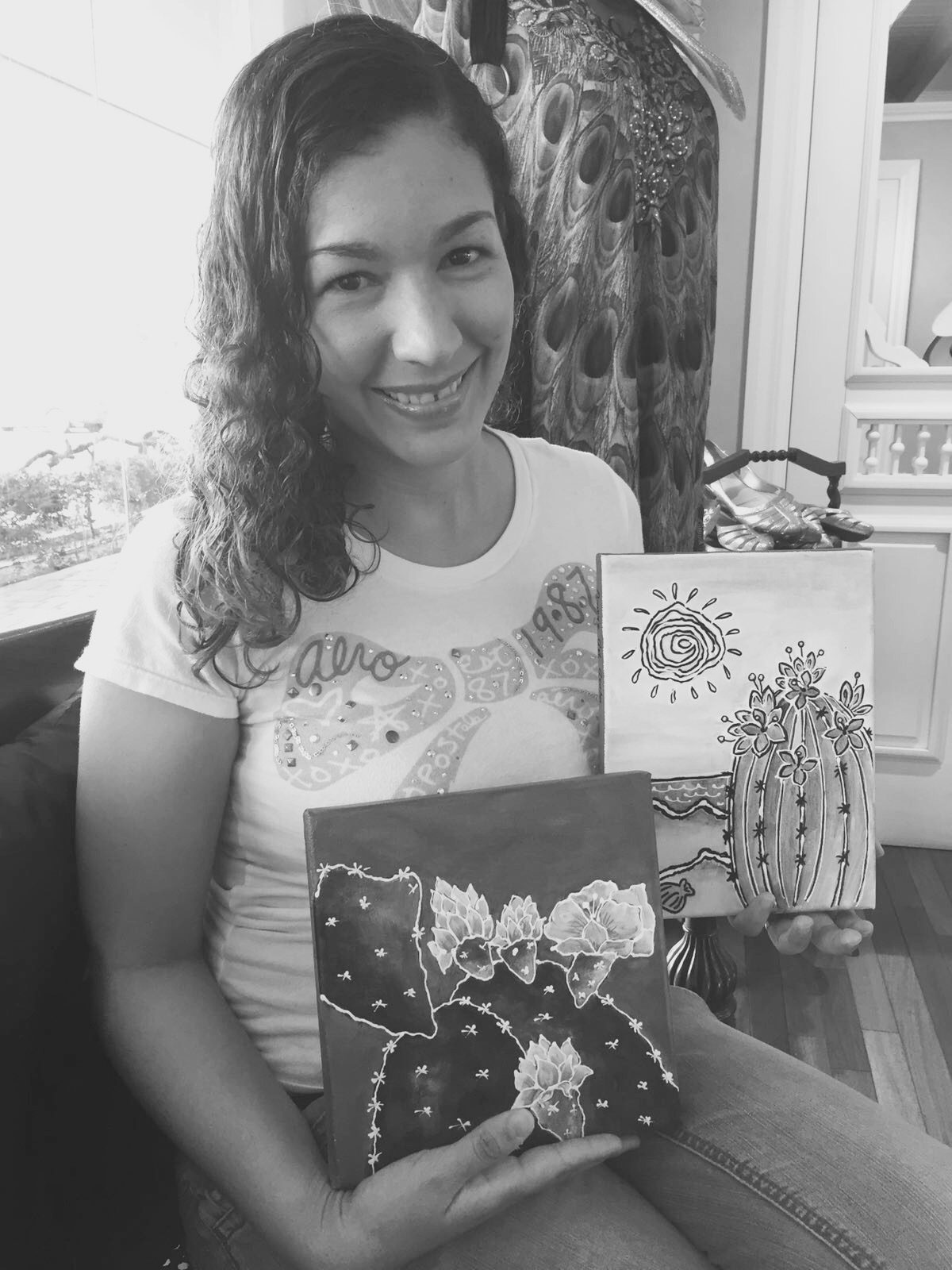 Local Artist Carla Giglione Guillen is Caribbean Queen for February 2016