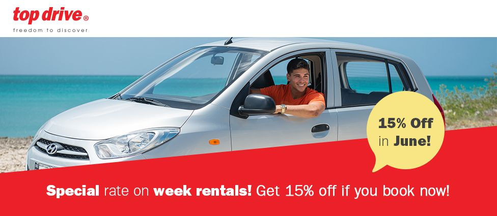 Aruba Top Drive's Special on Week Rentals