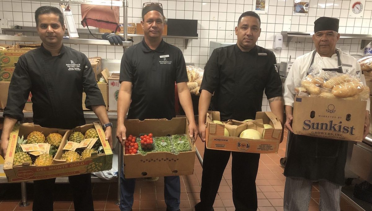 Renaissance Aruba Donates all its Fruits and Vegetables