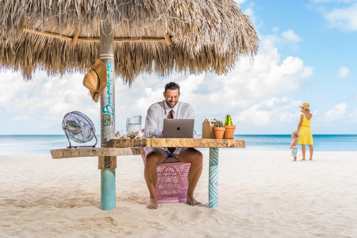 Aruba Hotel Adds Outdoor Workstations with Unique Views