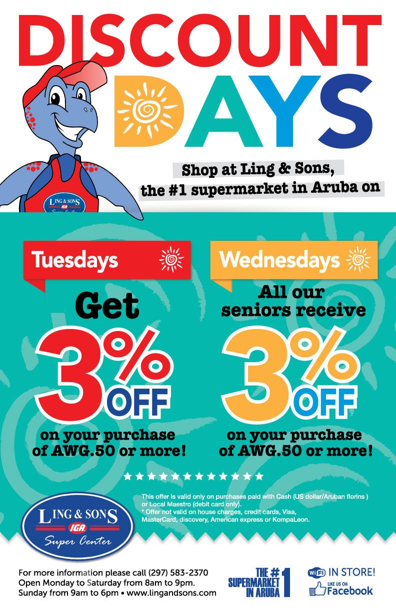 Ling and Sons IGA Discount Days