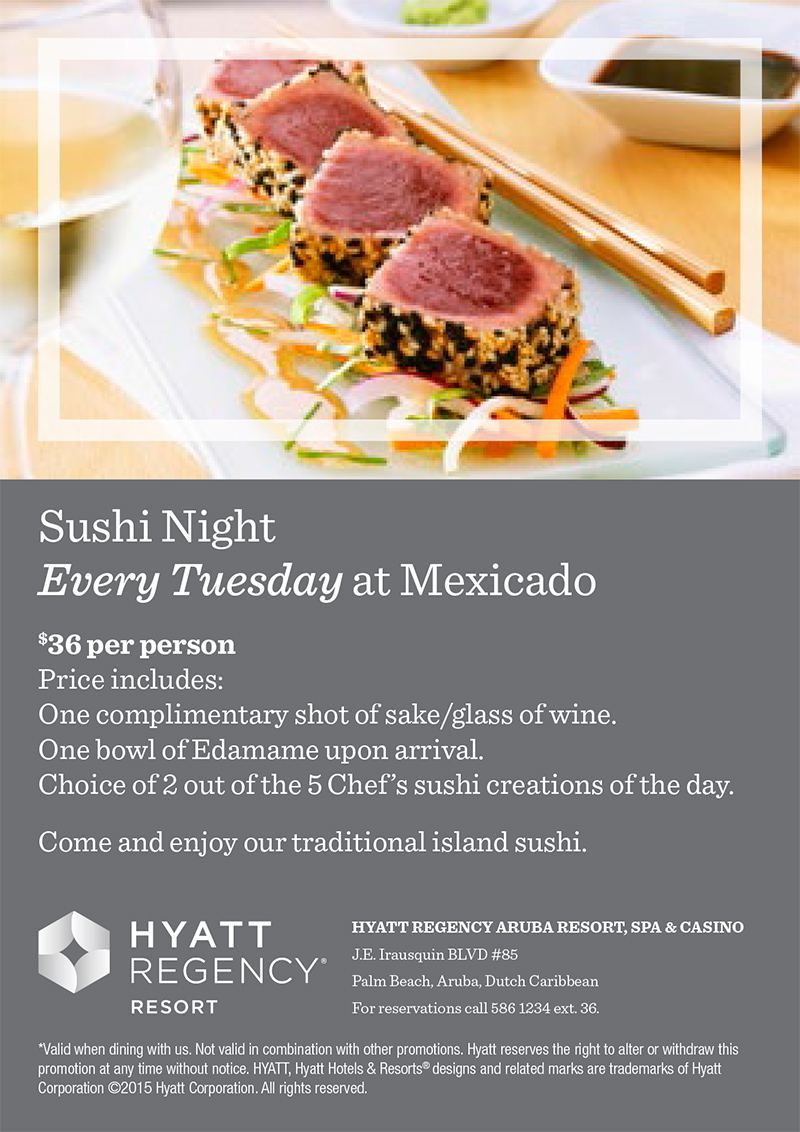 Sushi night every Tuesday