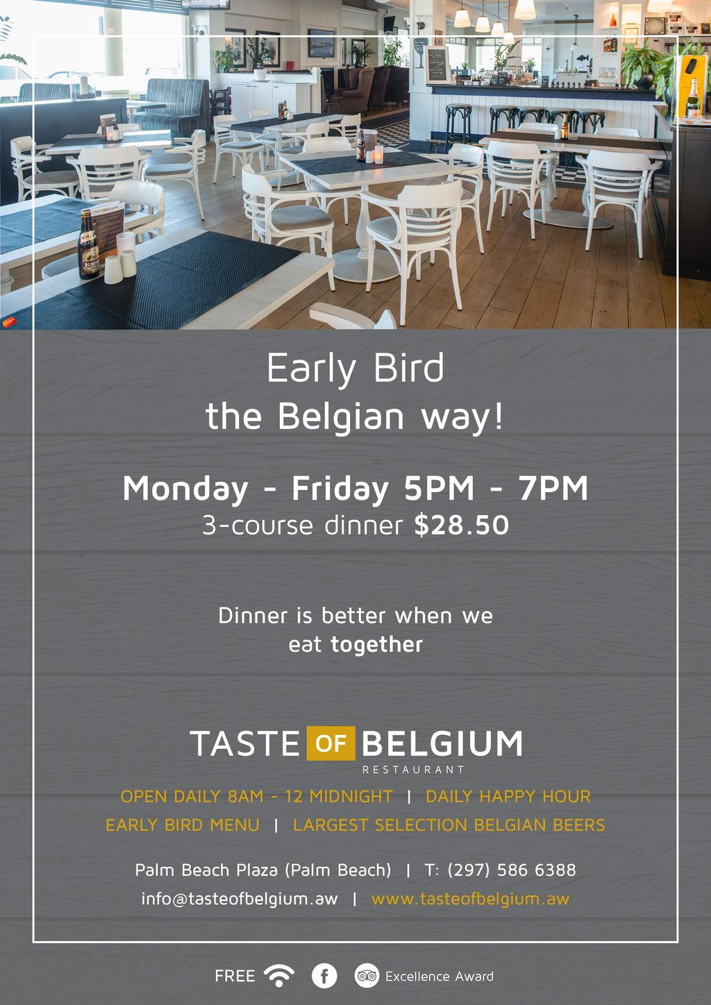 Taste of Belgium Early Bird Special