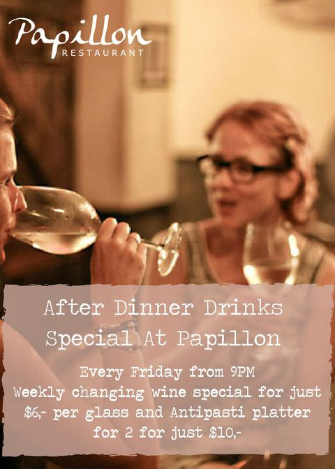 After Dinner Drinks Special at Papillon