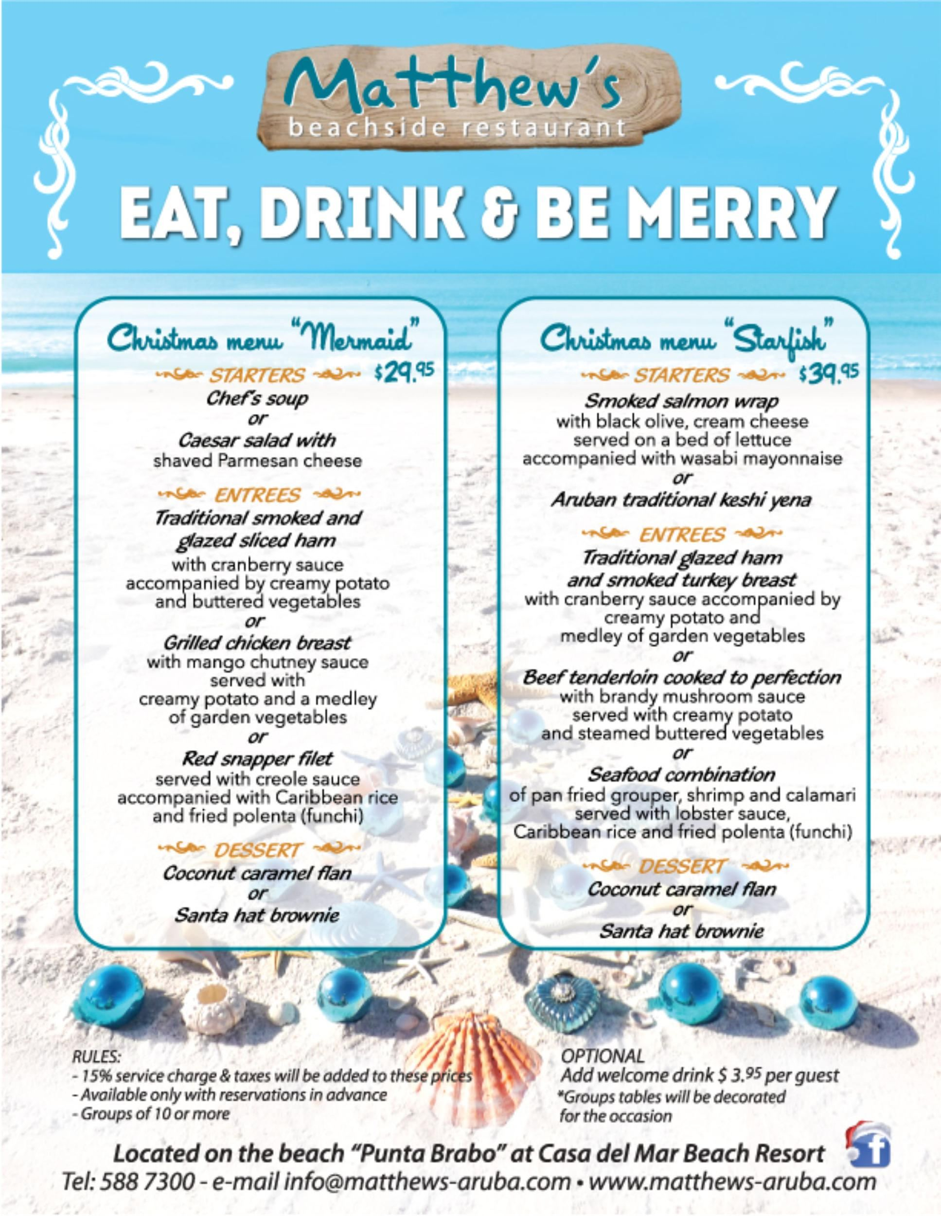 Eat, Drink & Be Merry Christmas Dinner