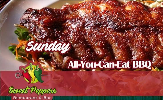 All You Can Eat BBQ Ribs every Sunday at Sweet Peppers