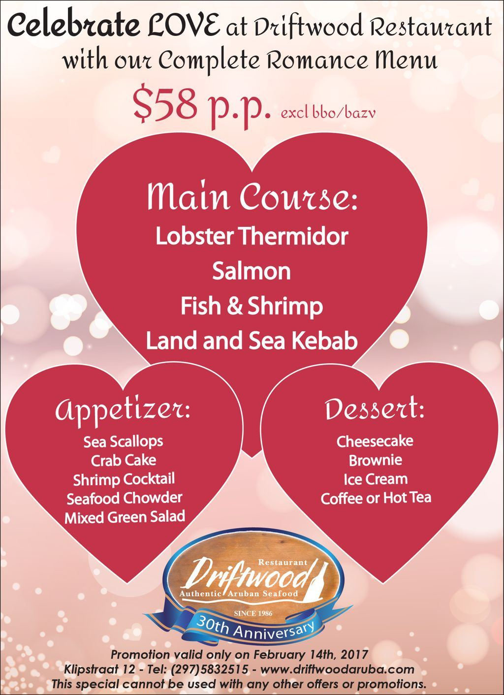 valentines dinner at driftwood - Valentine Day Restaurant Promotions