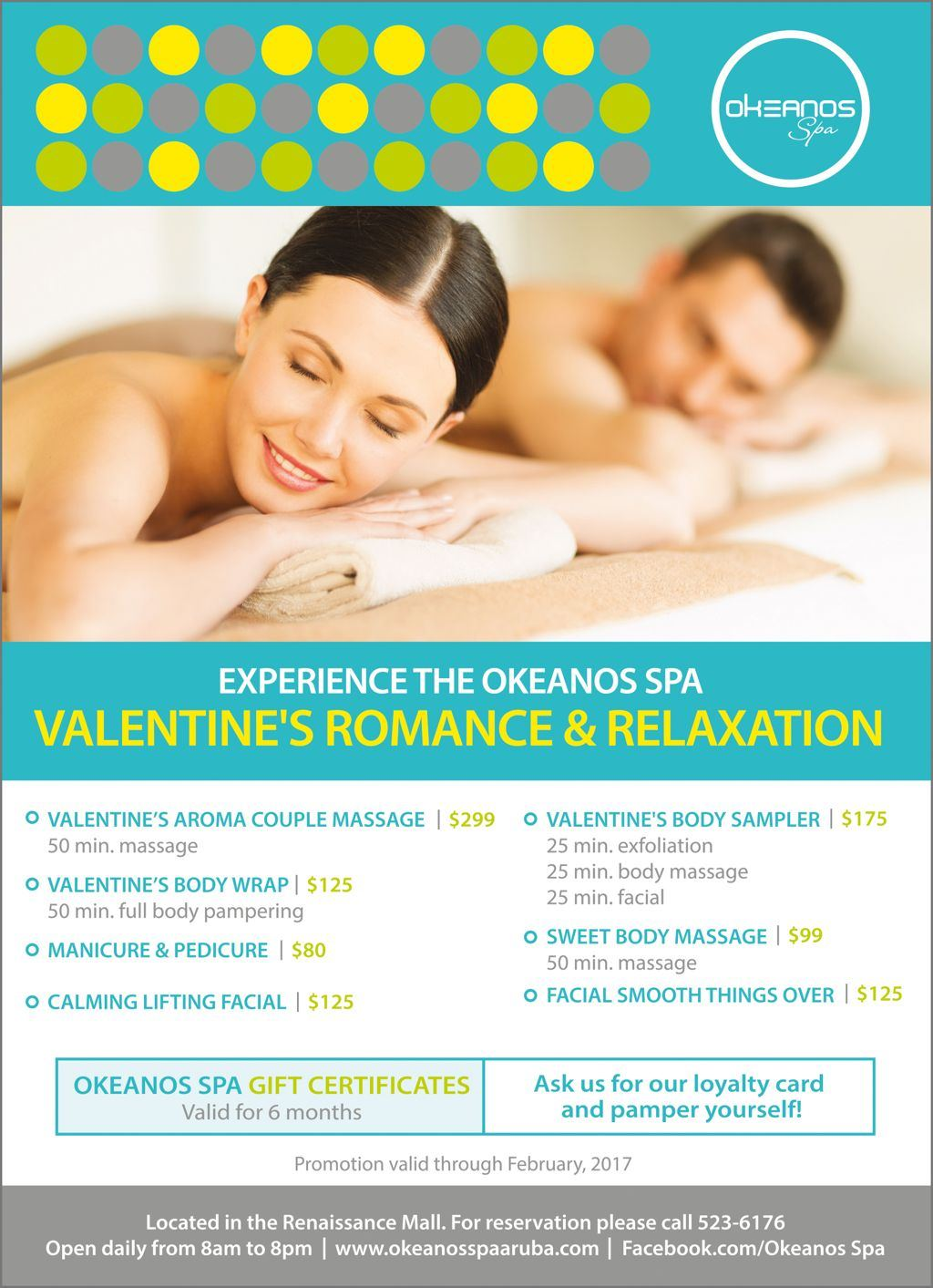 Valentine's Romance & Relaxation at Okeanos Spa