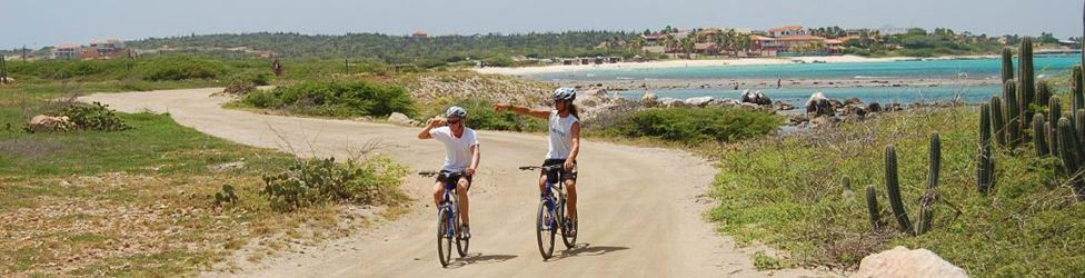 biking on aruba