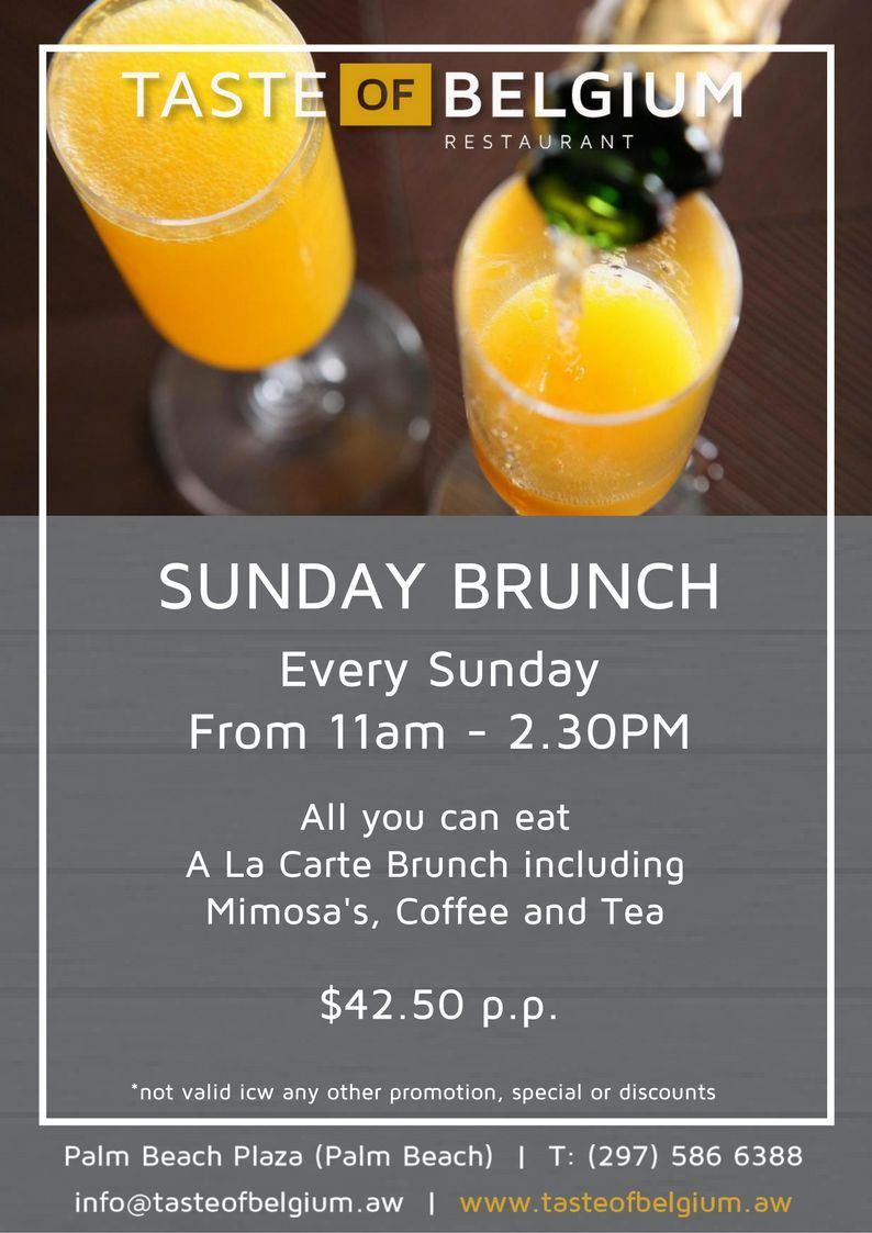 Taste of Belgium's Sunday A La Carte Brunch