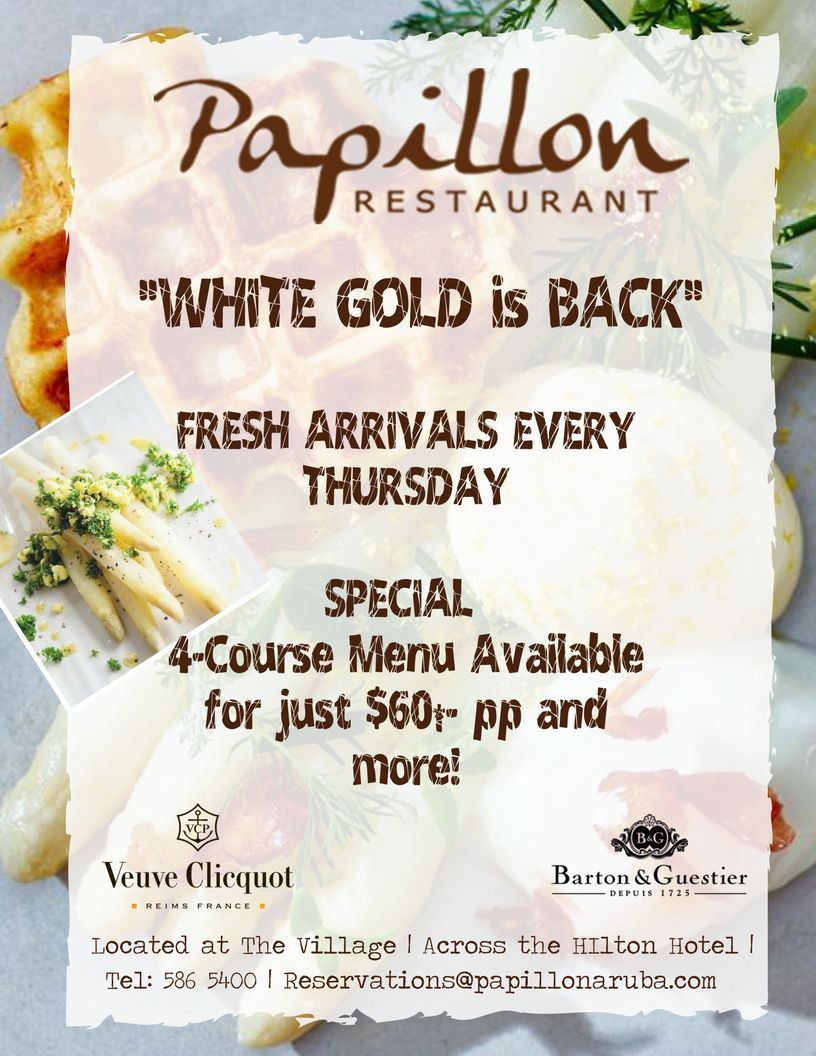 """White Gold"" 4 Course Asparagus Menu at Papillon"