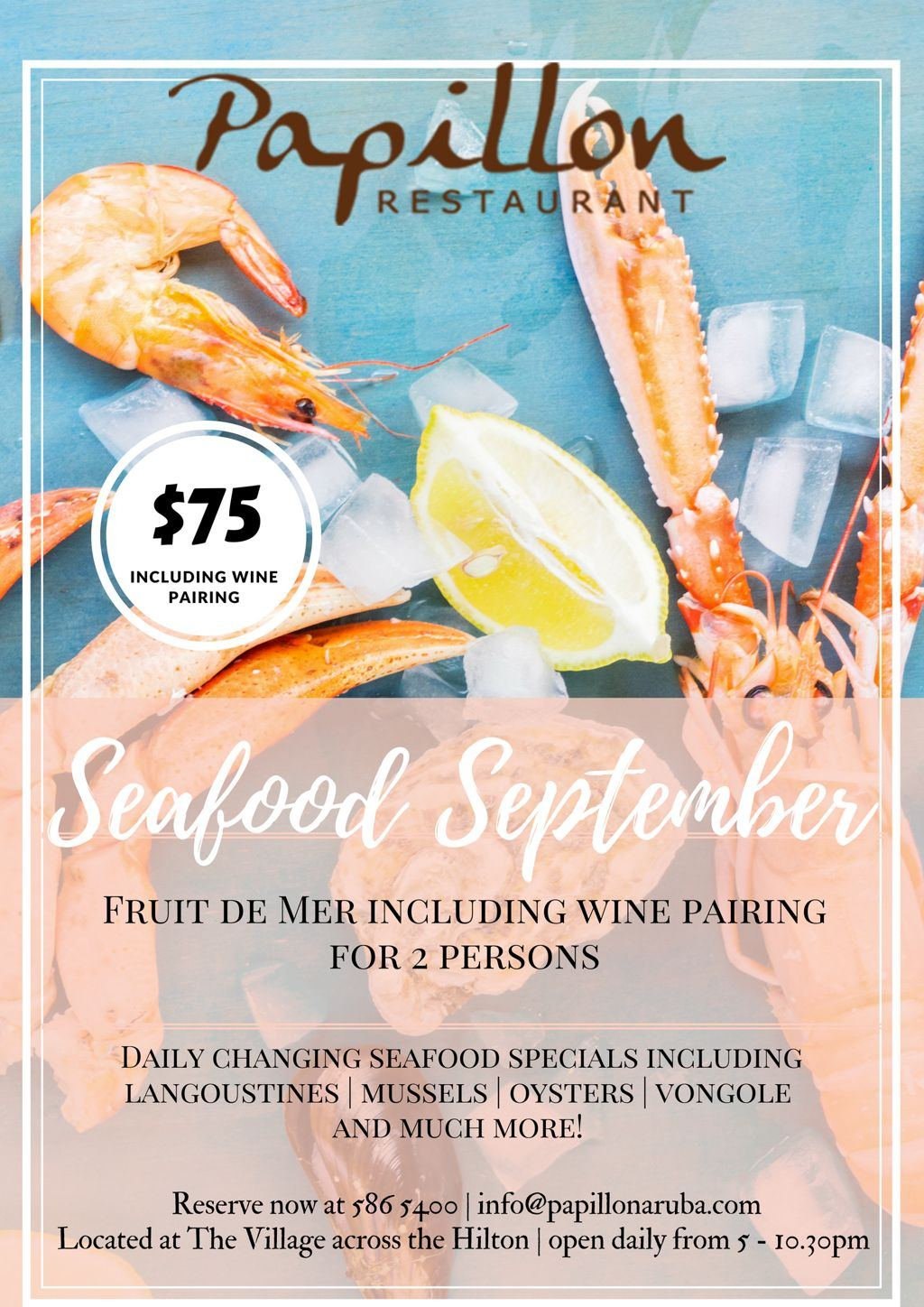 Papillon's Seafood September