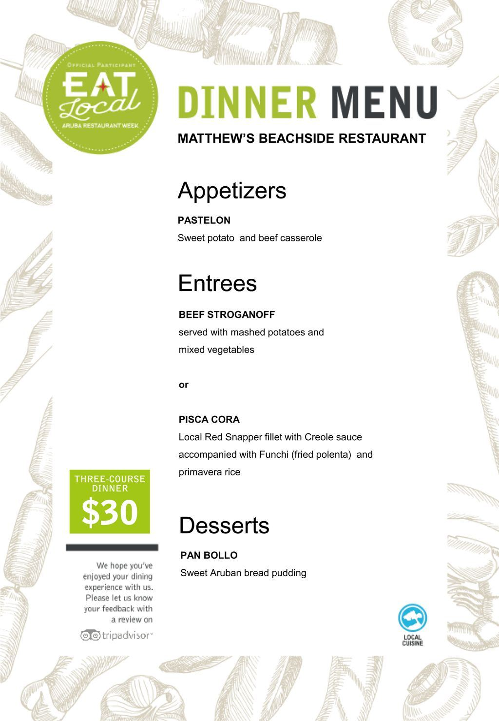 Matthew's Beachside Restaurant - Eat Local 2017