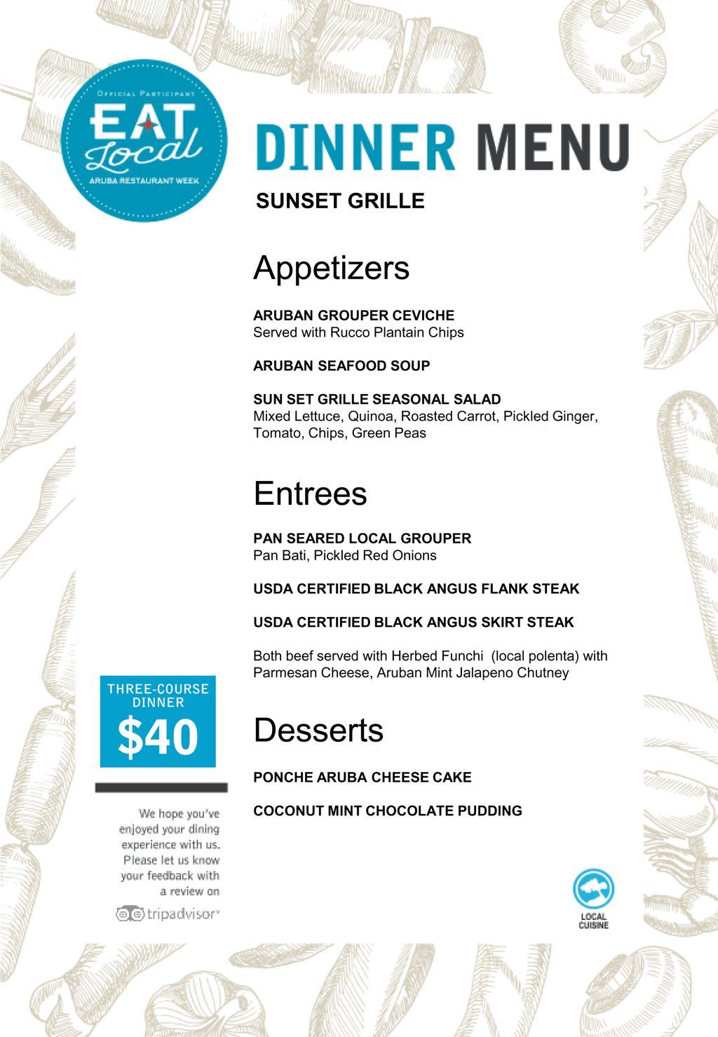 Sunset Grille - Eat Local 2017