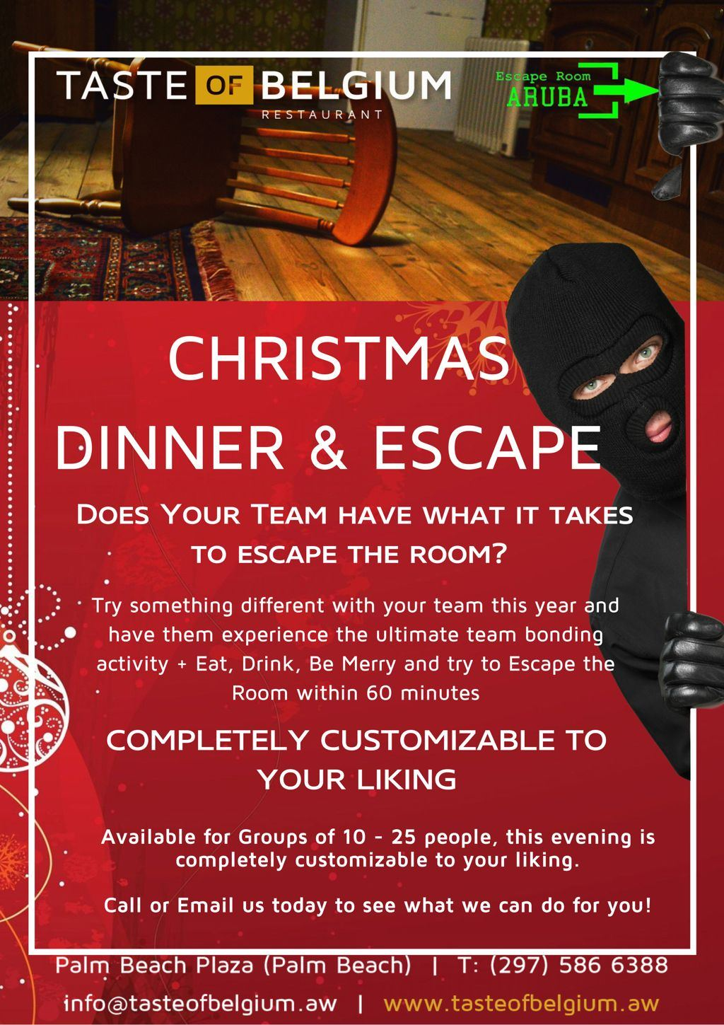 Taste of Belgium's Christmas Dinner & Escape