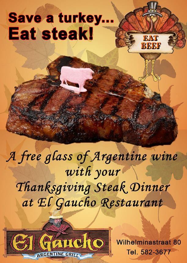 El Gaucho Thanksgiving Steak Dinner