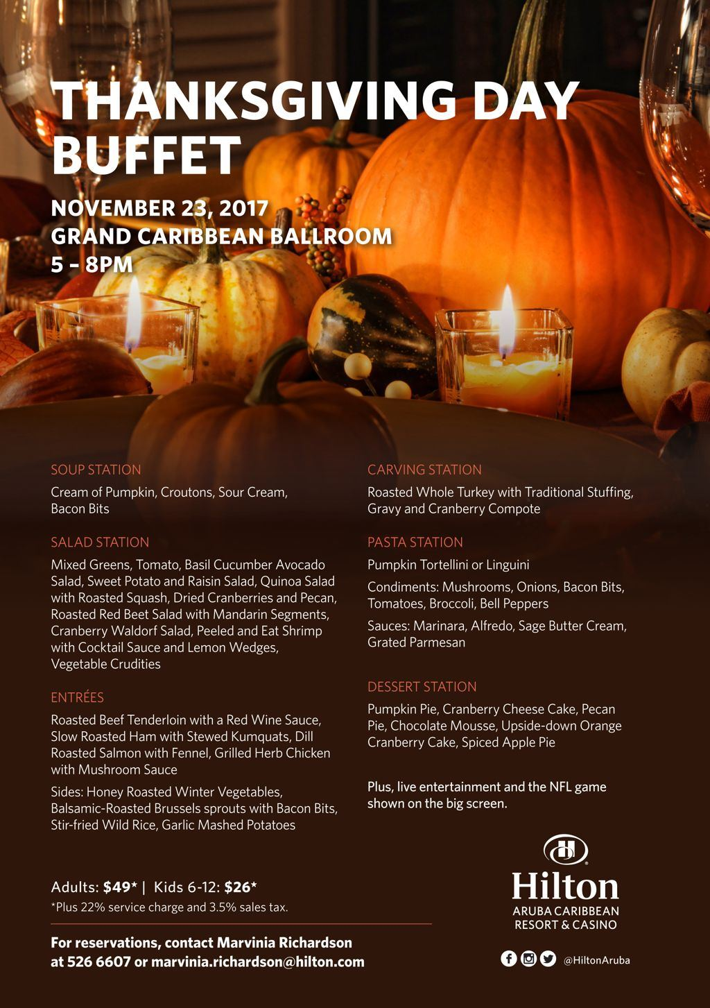 Hilton's Thanksgiving Day Dinner Buffet