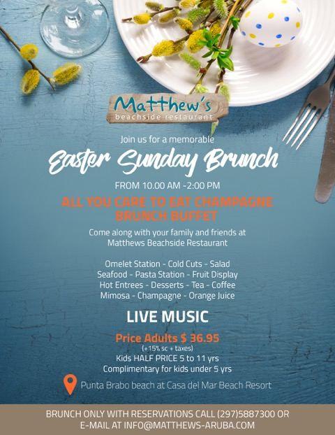 Easter Sunday Brunch at Matthew's Beachside Restaurant