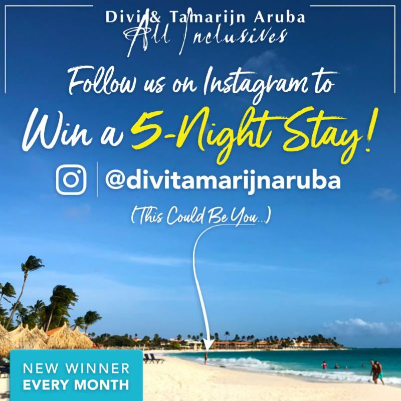 Divi & Tamarijn Aruba All Inclusive's Monthly Instagram Sweepstakes