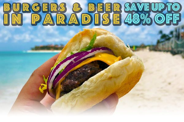 Save Up to 48% Off with Divi & Tamarijn's Burgers & Beer in Paradise